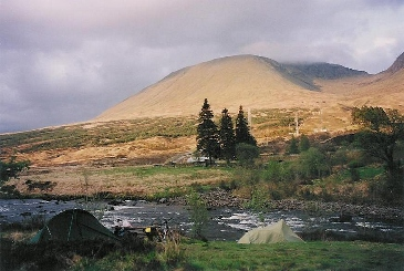 Campsite near River Orchy