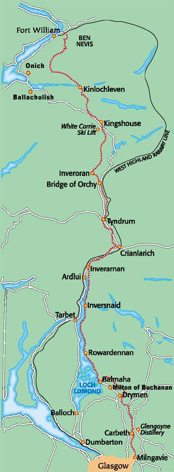 Map West Highland Way